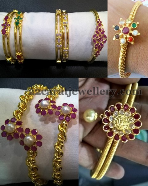 Cris Cross Light Weight Bangles