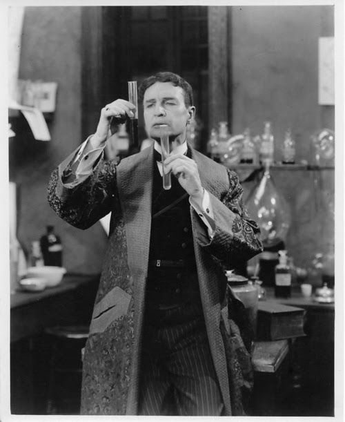 A still photo of William Gillette in 1916's Sherlock Holmes