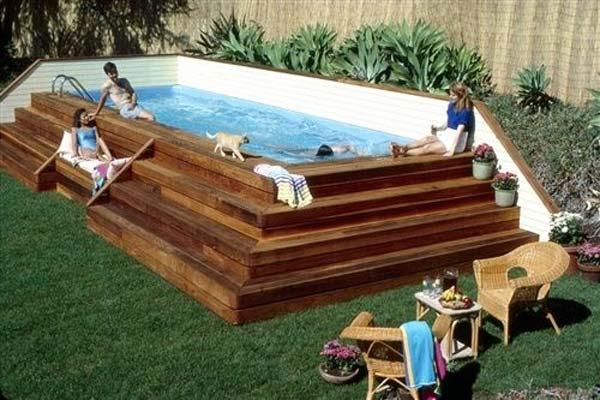 mẫu bể bơi sân vườn đẹp