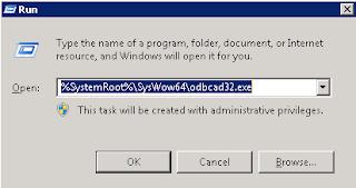 ODBC Windows 7 SO 64 bits