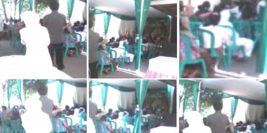 Video fenomena penampakan 3 pocong di pernikahan warga di Magelang