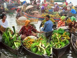 seribu sungai ini jangan sampai terlewatkan ke pasar terapung pasar