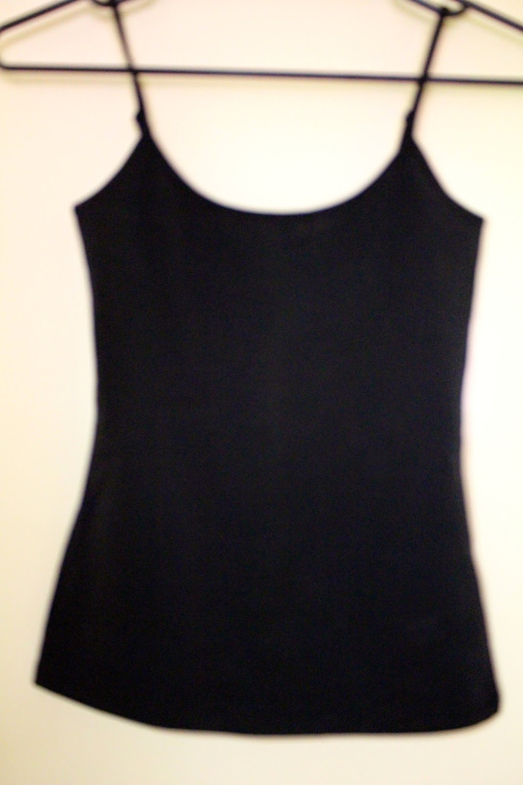 layering, basic black singlet top