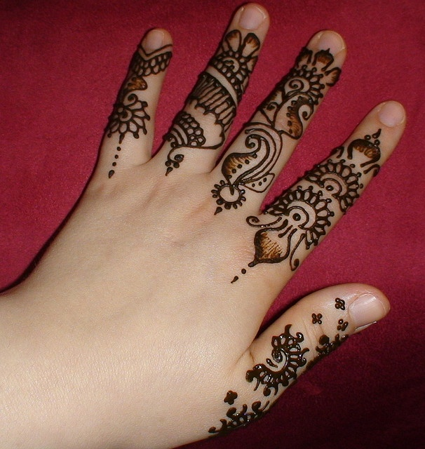 Mehndi Fingers Design : Bridal mehndi designs elegant and unique finger