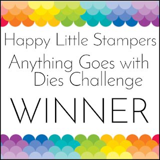 Winner at Happy Little Stamper Dies Challenge