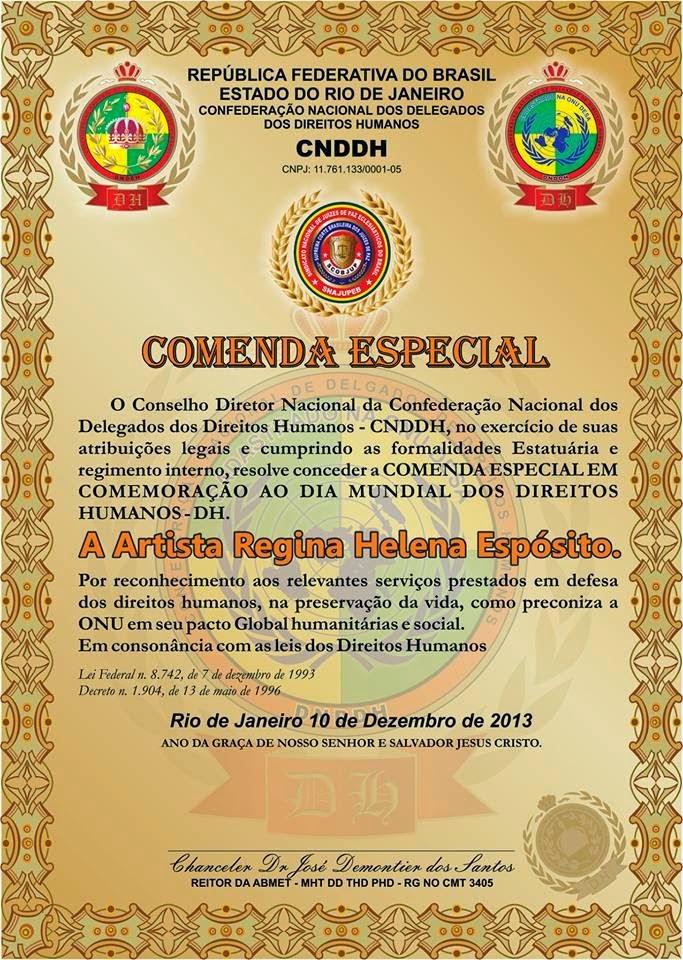 RECEBI O TITULO DE DOCTOR HONORIS EM CAUSAS ASSISTENCIA SOCIAL POR TODO BEM QUE FAÇO A HUMANIDADE