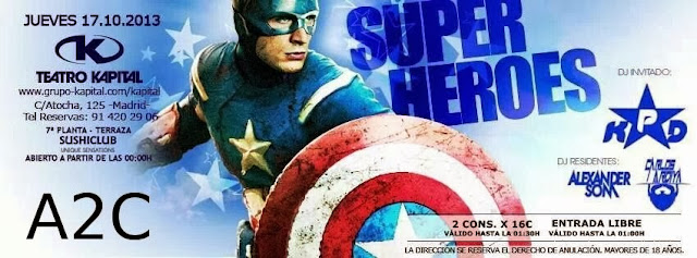 TEATRO KAPITAL - 10 DE OCTUBRE, SUPER HEROES