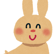 どうぞこちらへ のイラスト(ウサギ)