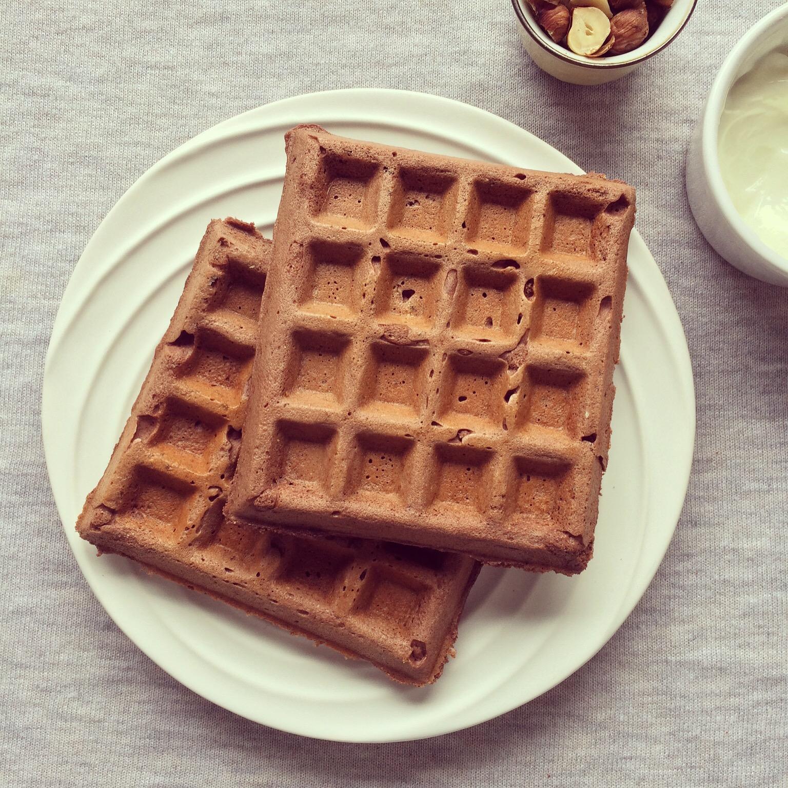 Gaufres protéinées chocolat & noisettes sans gluten – Bowl