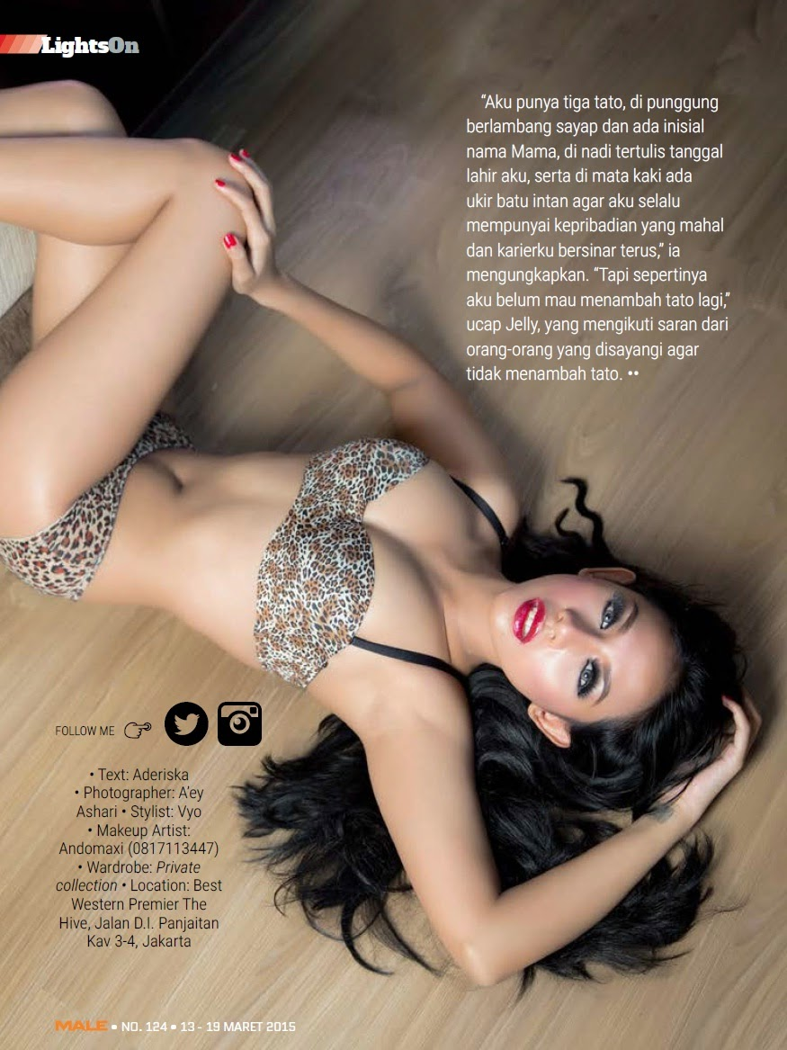 Jelly Syakilla on Male Magazine March 2015 | http://bi-photography.blogspot.com/