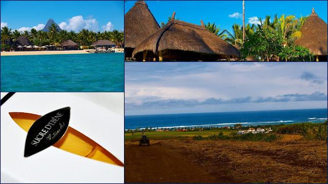 Маврикий, океан, сахарные плантации