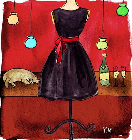 New Year's Eve dress by Yukié Matsushita