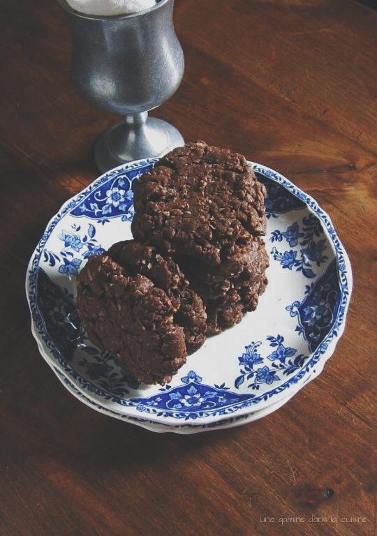 double chocolate coconut cookies | une gamine dans la cuisine