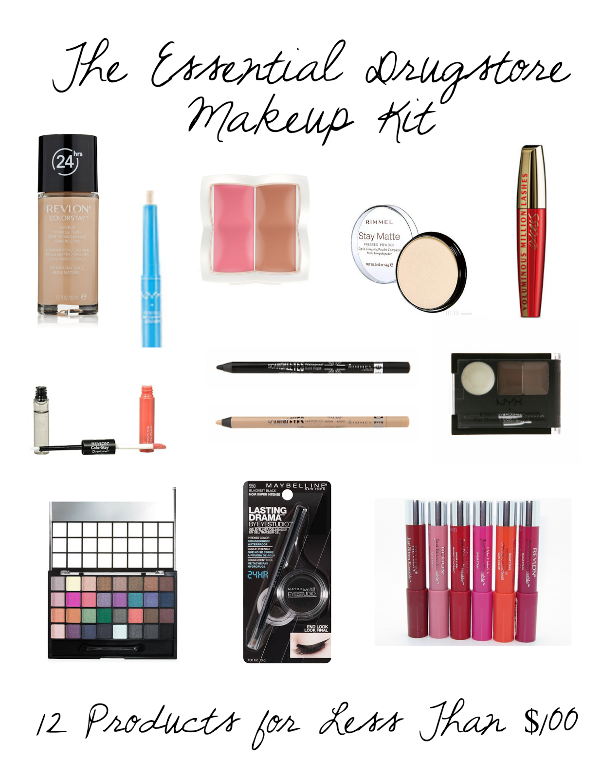 The Essential Drugstore Makeup Kit