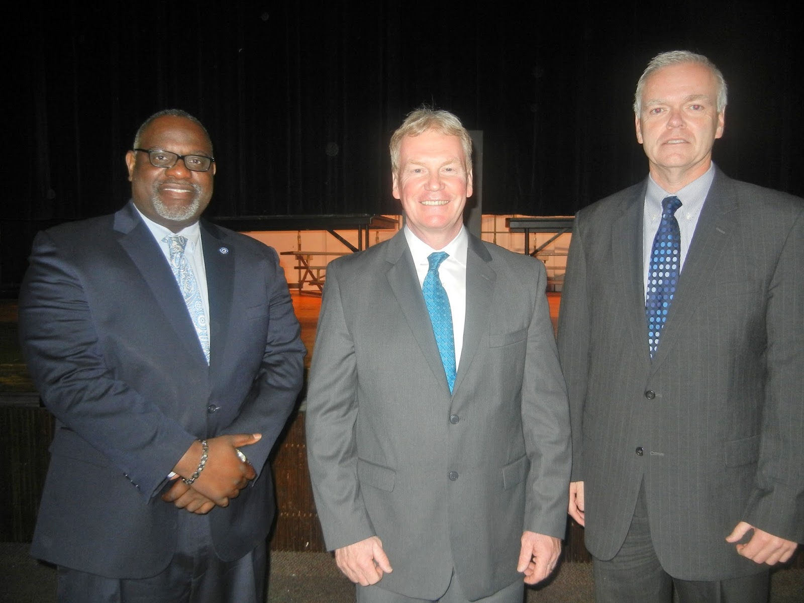 ms b the good news chester high achievement mentoring program left to right george b dawson deputy da and chief of the anti violence task force delaware county district attorney jack whelan and chief joseph ryan