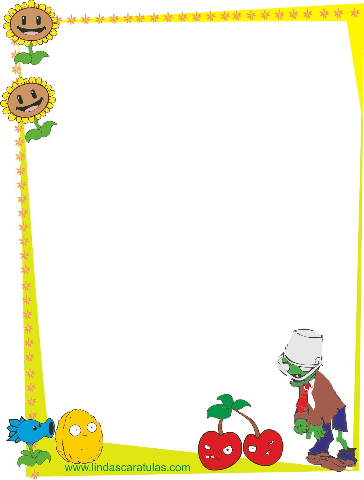 Rompecabezas o puzzle plantas vs - Marcos para plantas ...