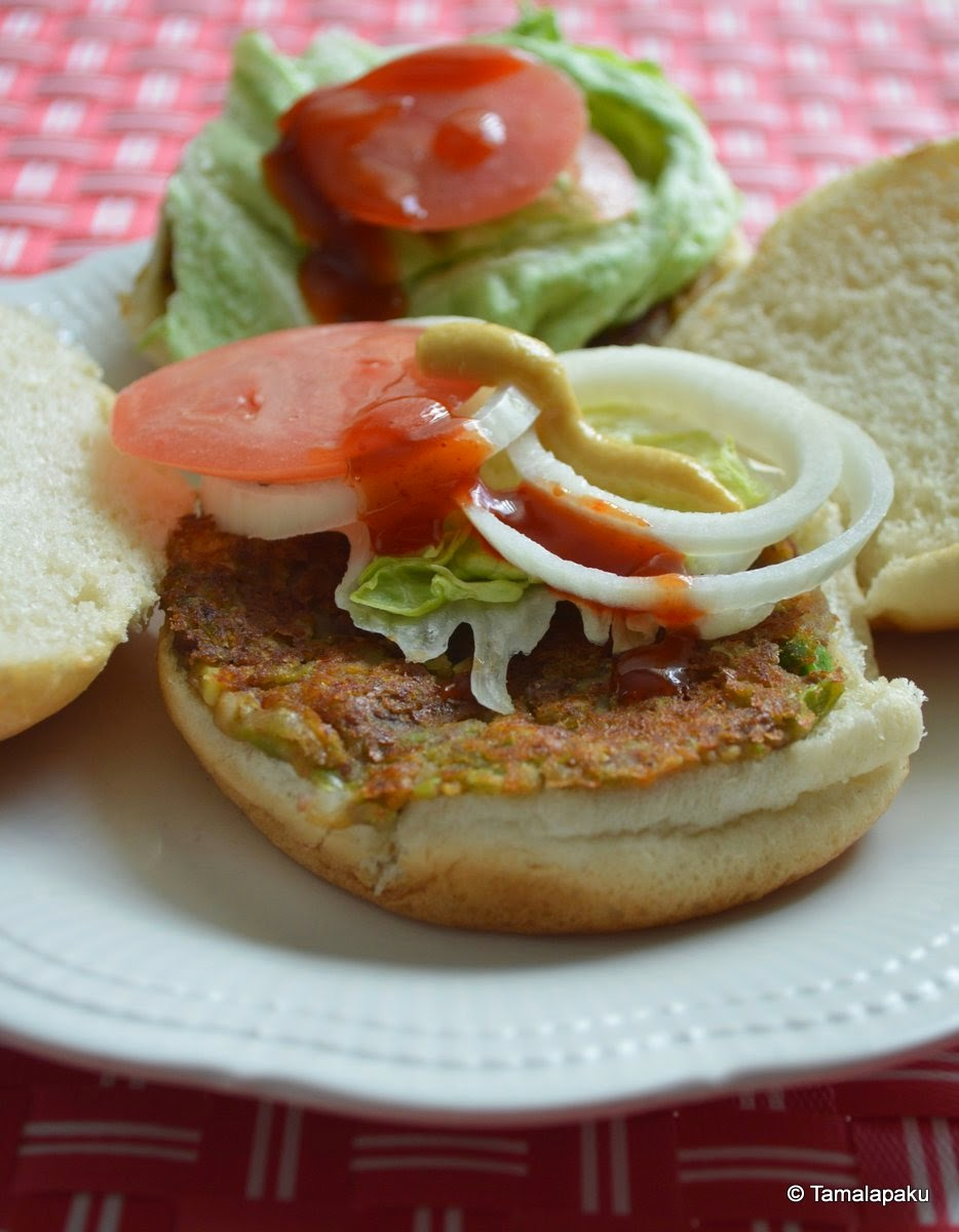 Vegetable Kidney Bean Burger