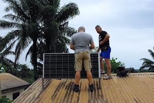 i pannelli fotovoltaici nella Missione delle Suore Comboniane (R.C.A.)