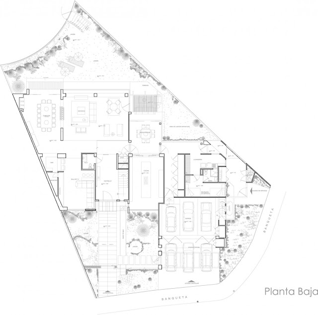 Ground floor plan of the modern home