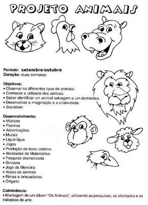 Labels: Animais , educação infantil , projeto