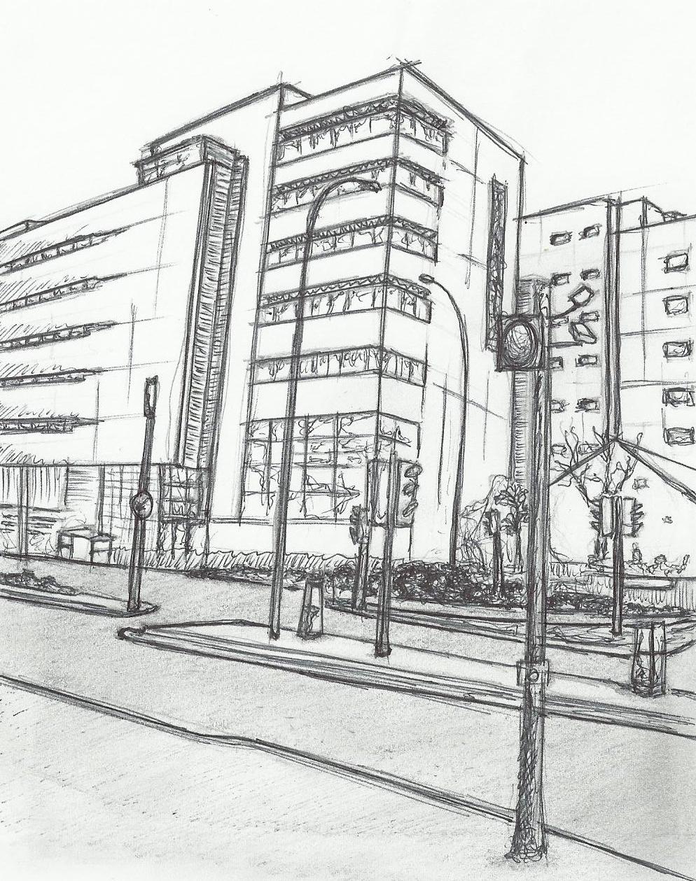 Manchester School Of Architecture Portfolio Sketches