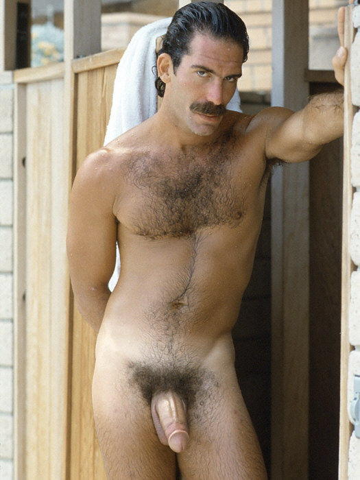 Retro mustache men naked