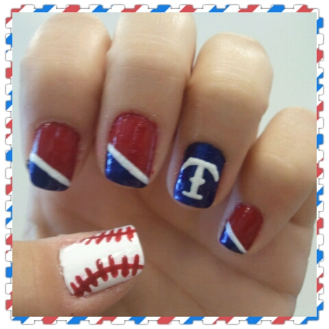 Texas Rangers Nails