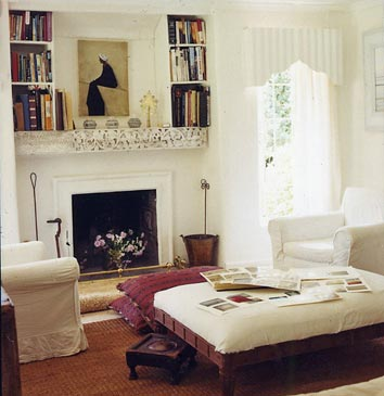 Floor Pillows Fireplace : Little House Well Done: Book Storage Inspiration