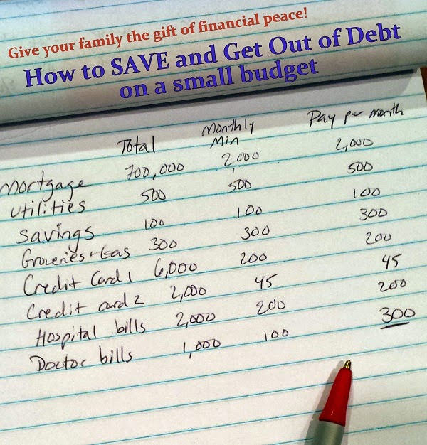 How to have #FinancialPeace Save and Get Out of Debt on a Small Budget @CapitalOne360