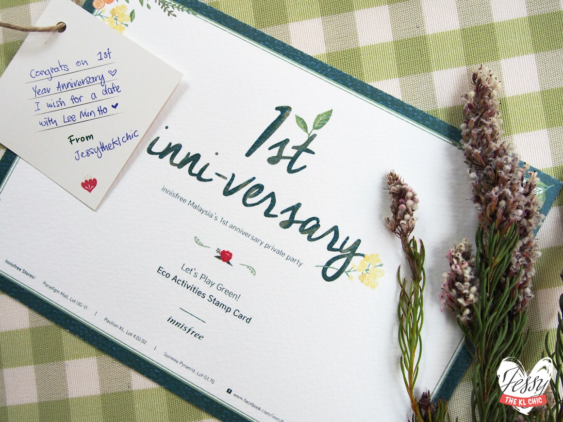 1st anniversary activities ~ Event innisfree st inni versary private party best event of