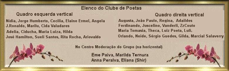 Quadro de nomes do elenco