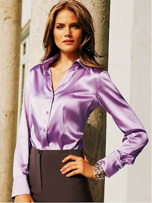 Purple Satin Blouse