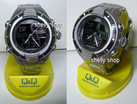Shelly Shop Jam Tangan QampQ GV5 Dual Time