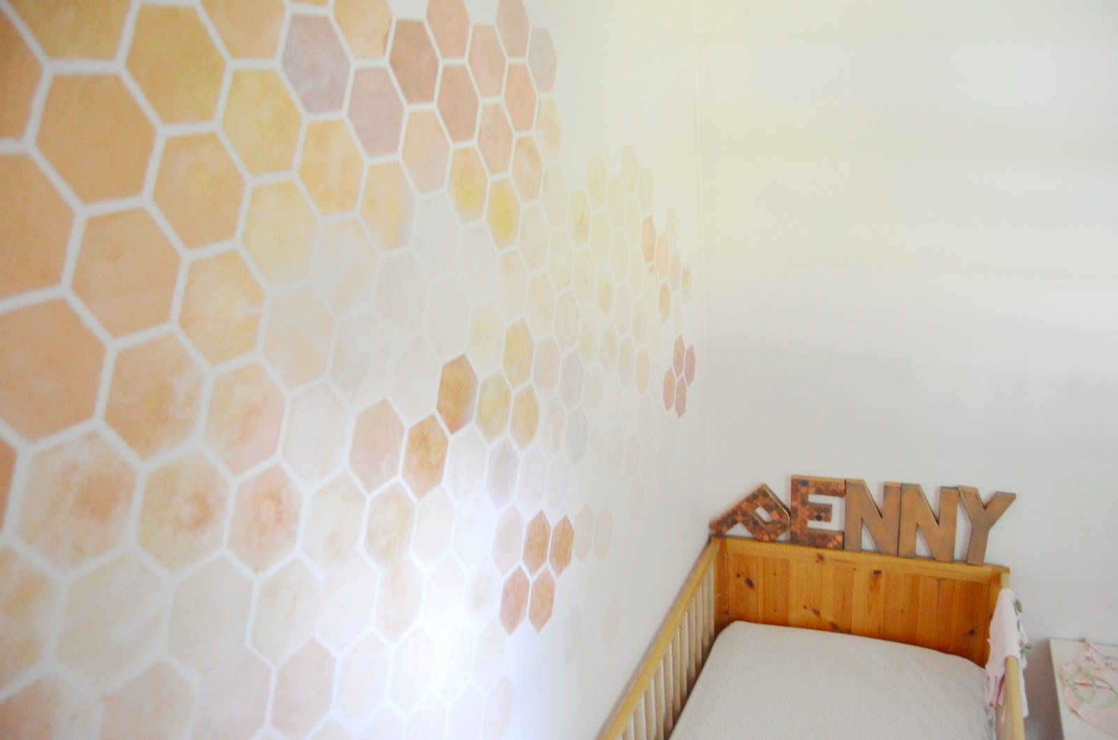 Honeycomb wall stencil choice image home wall decoration ideas 20 best ideas space stencils for walls wall art ideas honeycomb wall stencil diy step 1 to a girly nursery with space stencils for amipublicfo amipublicfo Image collections