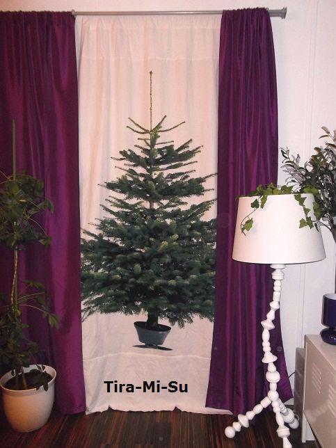 Blogworld of tira mi su das tannenb umchen namens margareta for Weihnachtsbaum vorhang