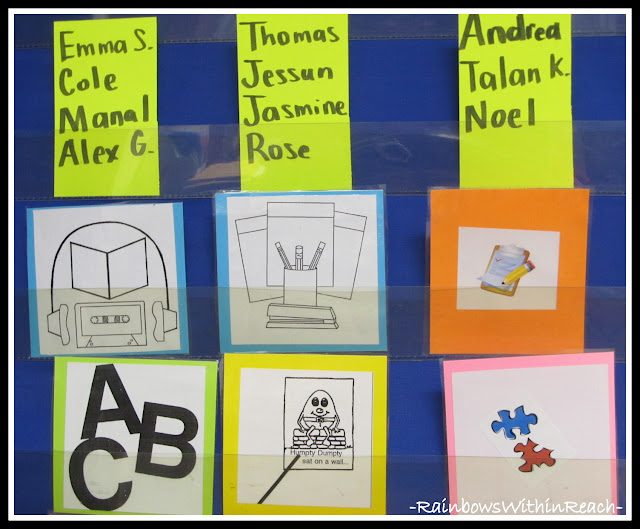 photo of: Work Stations with Names