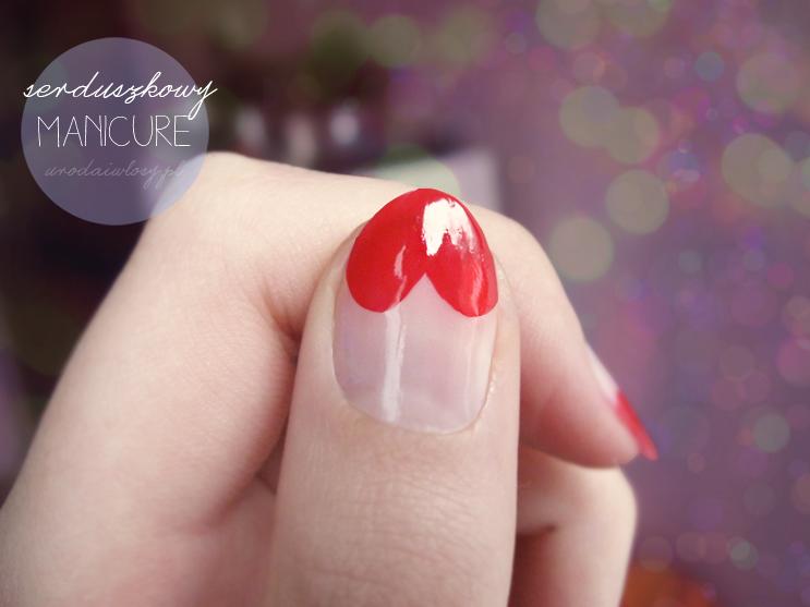 serduszkowe paznokcie, paznokcie serduszka, heart nails