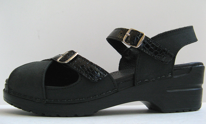 Good Closet Dansko Black Leather Sandals Womens Size 38