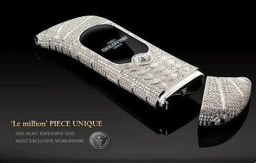 GoldVish Le Million by Emmanuel Gueit awarded by Guinness World Records as the world's most expensive mobile phones