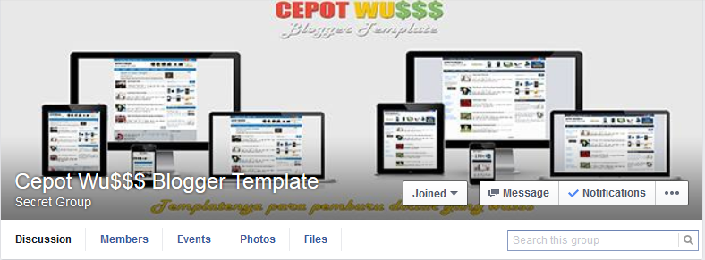 Cepot Wu$$$ Blogger Template - Grup FB Secret