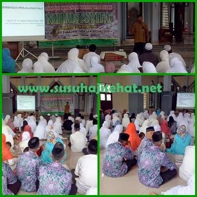 Edukasi Kesehatan kepada calon jama'ah Haji KBHI Nurus Syifa bersama Gemahati dan Susu Haji Sehat kabupaten Karawang Jawa barat