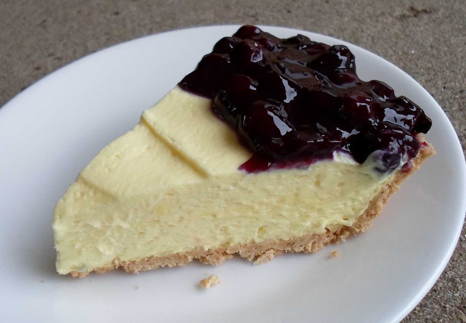 ... Than A Pig In Mud: No Bake Lemon Cream Pie with Blueberry Topping