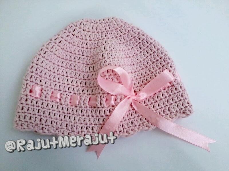 Topi Rajut Bayi, Pola Topi Rajut Bayi, Cara merajut topi bayi, Crochet Baby Hat, Crochet Hat for New born, Baby Hat for baby girl, Crochet Baby Hat free Pattern