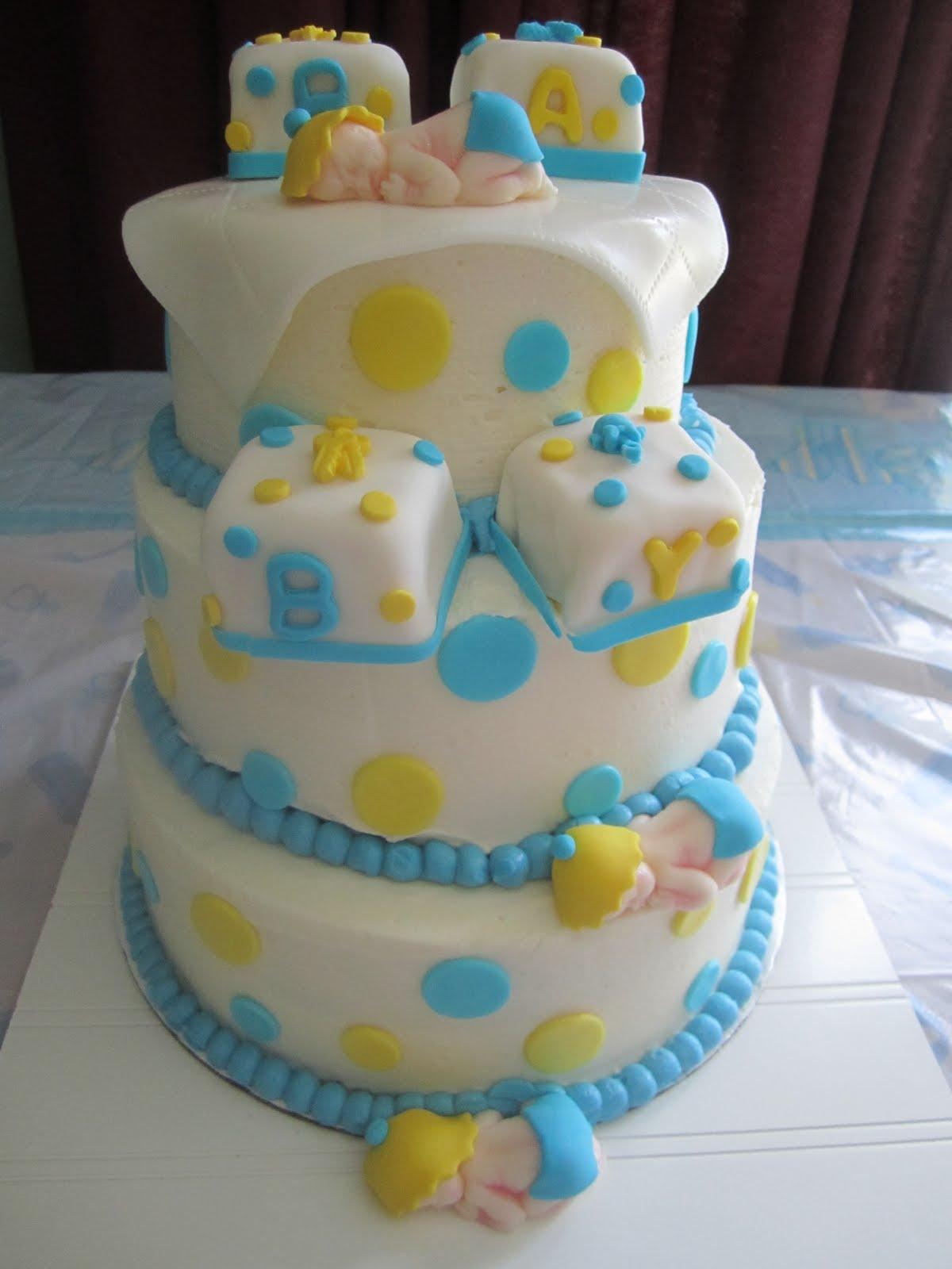 no fondant baby shower cakes