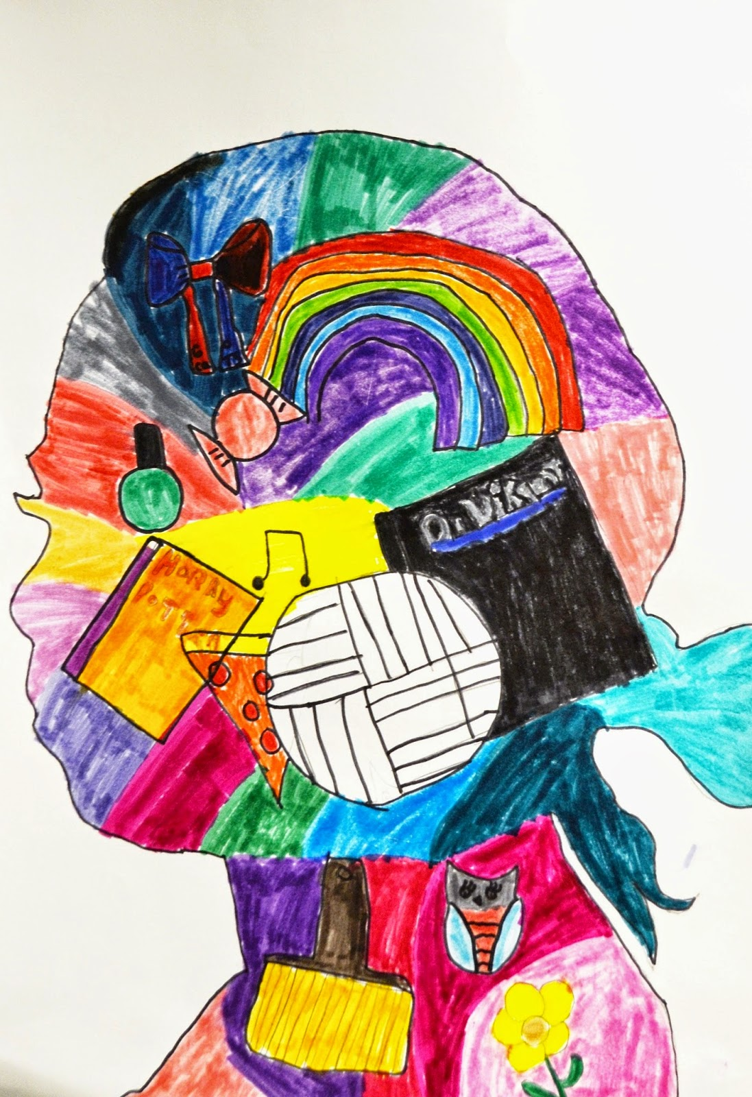 7th Grade Symbol Self Portraits Lessons From The K 12 Art Room