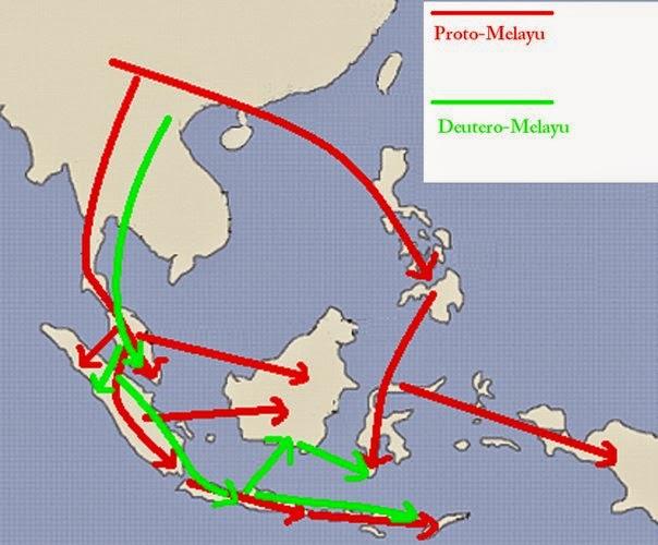 asal usul nenek moyang bangsa indonesia dan peta persebarannya