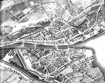 Malerischer Plan der Stadt Zürich. 1847