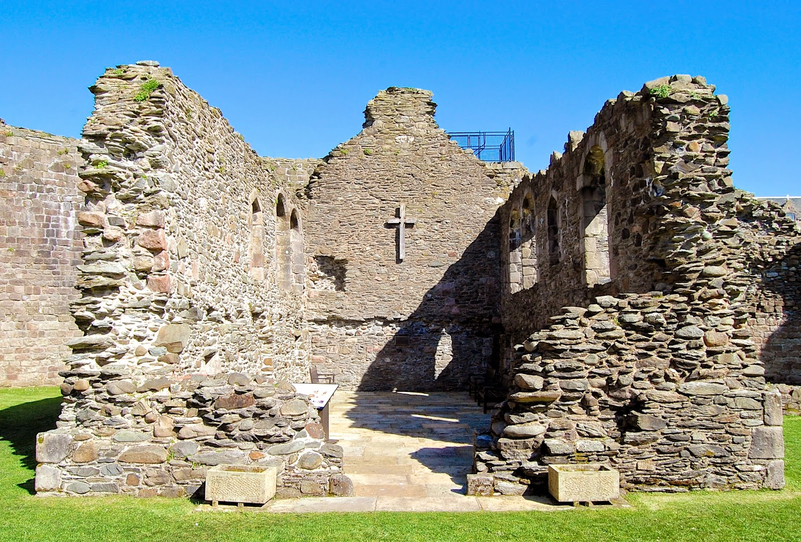 Ruins of the chapel within Rothesay Castle