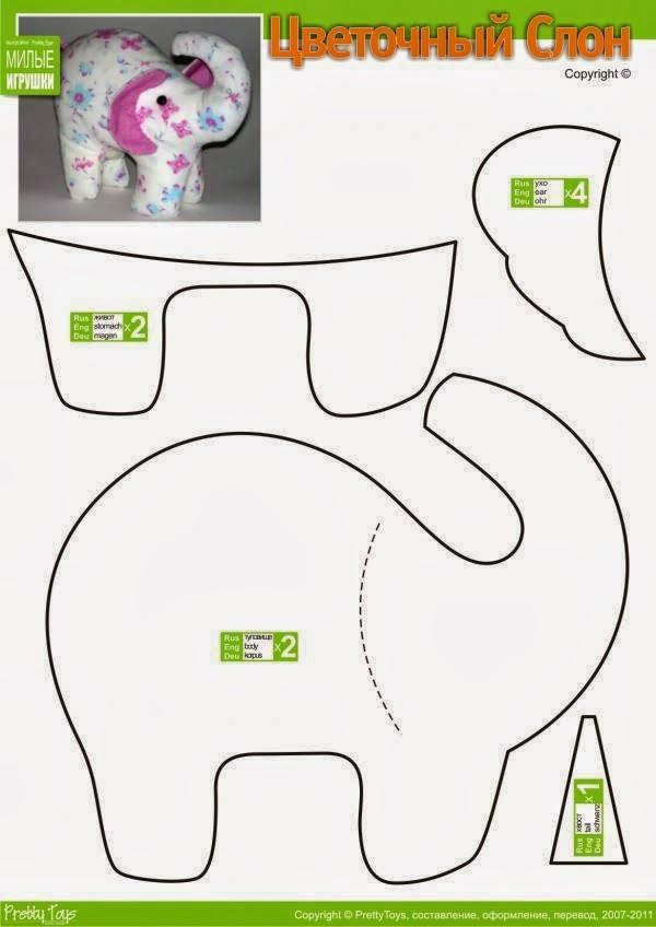 Выкройки для мягких игрушек своими руками распечатать 4