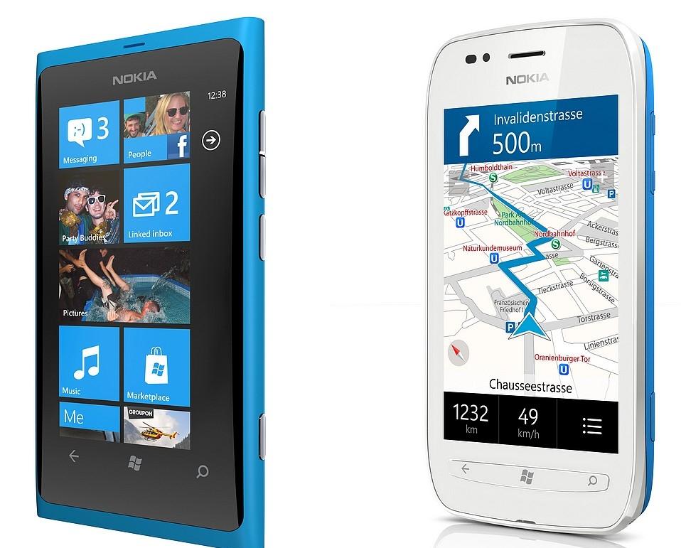 Nokia Lumia 800 si Nokia Lumia 710